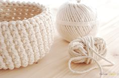 the new crochet: Bathroom crochet bowl (+ pattern) crochet baskets, bowl, rope, pattern, diy project, crochet project, diy idea, bathroom, crochet idea