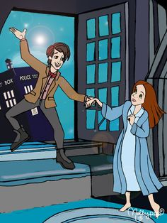 Doctor Who in the style of Peter Pan.