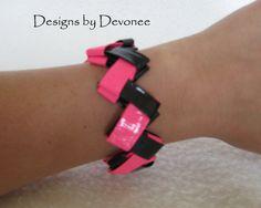 Duck tape origami bracelet