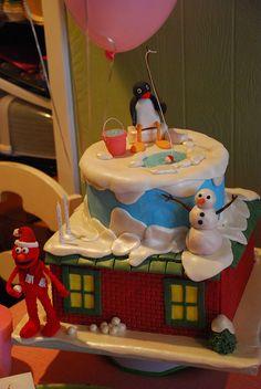 Elmo and Pingu Birthday Cake by Sweet Fix, via Flickr
