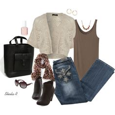 """""""Fall outfit-Over 40 Fashion"""" by sheila-r on Polyvore"""