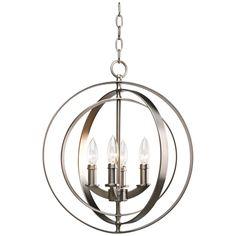 Equinox Silver 18 1/2-Inch-H Foyer Pendant Light #interiordesign #modernlighting #pendant See more http://www.eurostylelighting.com/