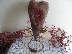 Primitive  Valentine Love on a Rusty Spring  by KeepsakeDesigns, $6.75