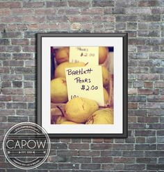bartlett pears photo art print kitchen food wall home decor
