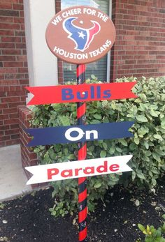 Houston Texans Yard Sign