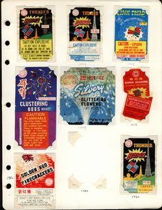 fireworks packaging, 1979-80