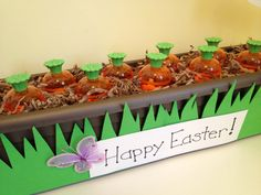 Carrot Garden Easter Favors~ would be a cute way to do favors for a class party or get together at your house!