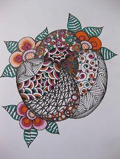 zentangl doodl, zentangl kleur, easter card, doodl art, easter eggs, blog, zentangl idea, tangl art, inspir zentangl
