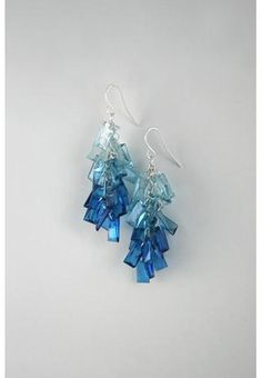 watery blue earrings
