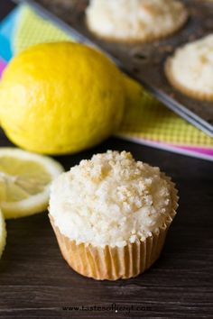 These Lemon Crumb Muffins