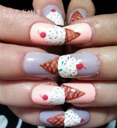 Ice cream cone nails
