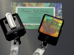 Retractable badge reel - Harley Davidson