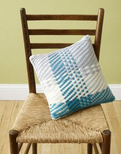Pillow made with the Martha Stewart loom