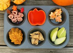 Fall cupcake tin lunch...I think I MIGHT do this this weekend!