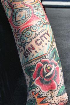 all slots casino flash tattoo artwork