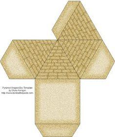 printable pyramid box - Reading Oasis Book Fair
