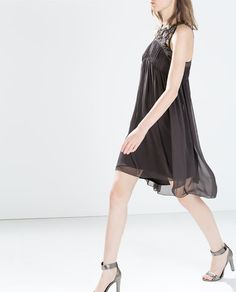 ZARA - WOMAN - DRESS WITH EMBROIDERED FRONT
