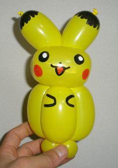 how to make pikachu balloon animal