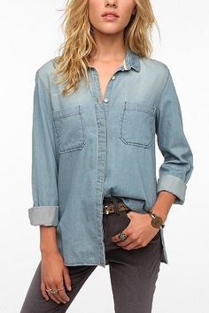 Bdg Chambray Button-down Tunic