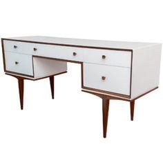 decor, teak and white, writing desk, furnitur lust, desks, desk vaniti, danishes, midcenturi furnitur, danish modern