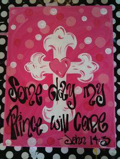 Custom Cross Wall Decor | Houston, TX | SillySillyGirls.com