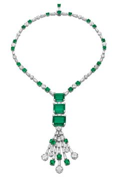 Biennale Necklace by Bulgari - diamonds and emeralds