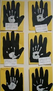 Craft and book--Students compare the size of their hands to the size a gorilla's hand.