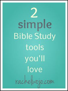 2 simple Bible study tools: If you are following a Bible reading plan, these two tools are awesome to have!