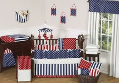 Red, White, and Blue Americana Baby Bedding