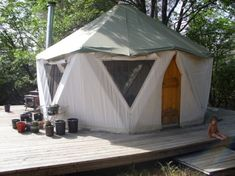 Yurt + Dome = My life in a yome   Offbeat Home