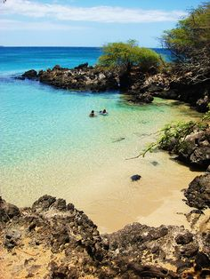 Hapuna Beach. Big Island, Hawaii.