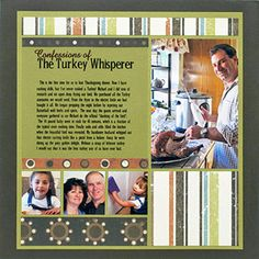 Printed Journaling Thanksgiving Scrapbook Page