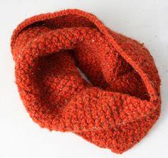 Cuello de punto color teja_ref.181 / Cosas de tt - Artesanio