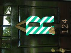 Large letter door decor for summer!