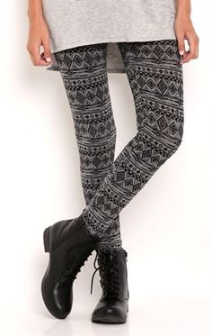Deb Shops Legging with Tribal Print $12.50