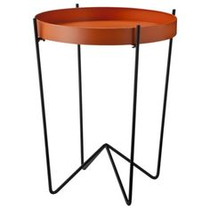 Mod Round Metal Tray Table