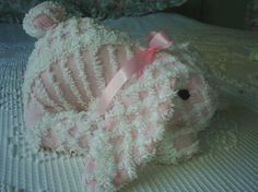 Chenille Bedspread Pink Easter Bunny Rabbit-Soft and Sweet  http://www.etsy.com/shop/chenillaholic?ref=seller_info