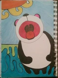 Swimming panda by T.L. Altherr 2012