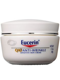 Eucerin Q10 anti wrinkle cream, for sensitive skin, fragrance free, Allure Best of Beauty award