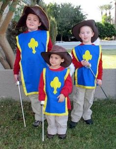 Coolest Three Musketeers Group Costume... This website is the Pinterest of Halloween costumes for kids