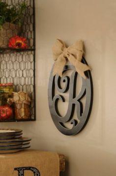 Wooden Monogram Wall Plaque | Kirkland's