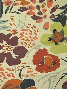 $16.95 Hot House Flowers Russet... Headboard fabric?