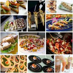 food presentation finger sandwiches