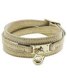 Michael Kors Metallic Leather Wrap Bracelet