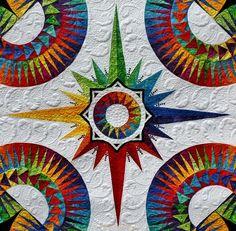 color quilt, stars, rainbows, aurora, star quilts