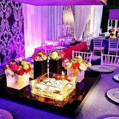 Wow! #Purple #uplighting creates a beautiful look for this #formal #event! #Greeklife #recruitment #GoGreek #sorority #fraternity #rentmywedding #diy #TSM #TFM #addachaptertoyourlife