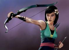 Mulan as Hawkeye.
