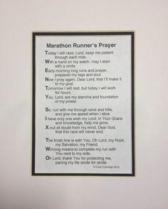 The Marathon Runner's Prayer