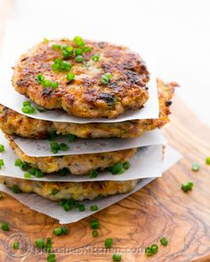 Chicken Zucchini Fritters Recipe ~ Imagine if you will that a katleta (meat patty) married a zucchini fritter and they had babies = Chicken Zucchini Fritters ~