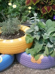 instructions for making a colorful tire planter